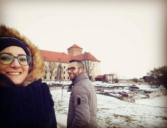 Io e Fabio appena arrivati a Cracovia