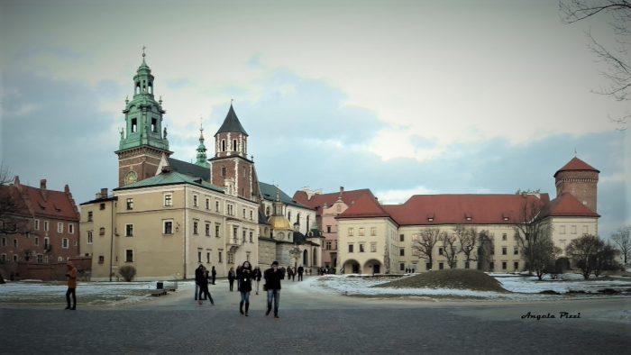 Wzgórze wawelskie. Sulla colluna di Wawel